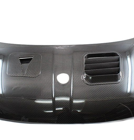 Koshi Group carbon fiber hood for Fiat 500 w/ intake