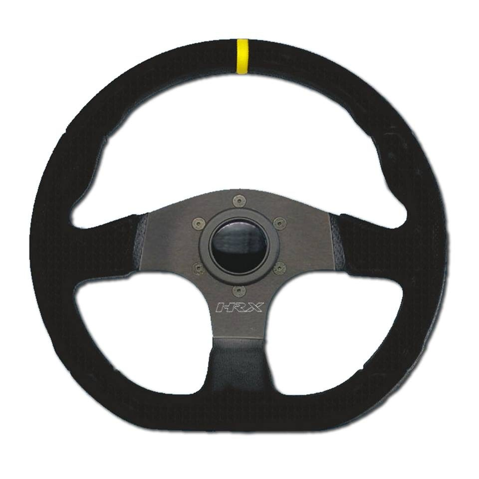 Driving gloves for suede steering wheel - Hrx 330mm Flat Bottomed Suede Wheel